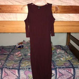 S cold shoulder midi bodycon dress by Rue21
